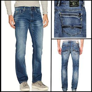 BUFFALO Relaxed Straight Leg Distressed Jeans